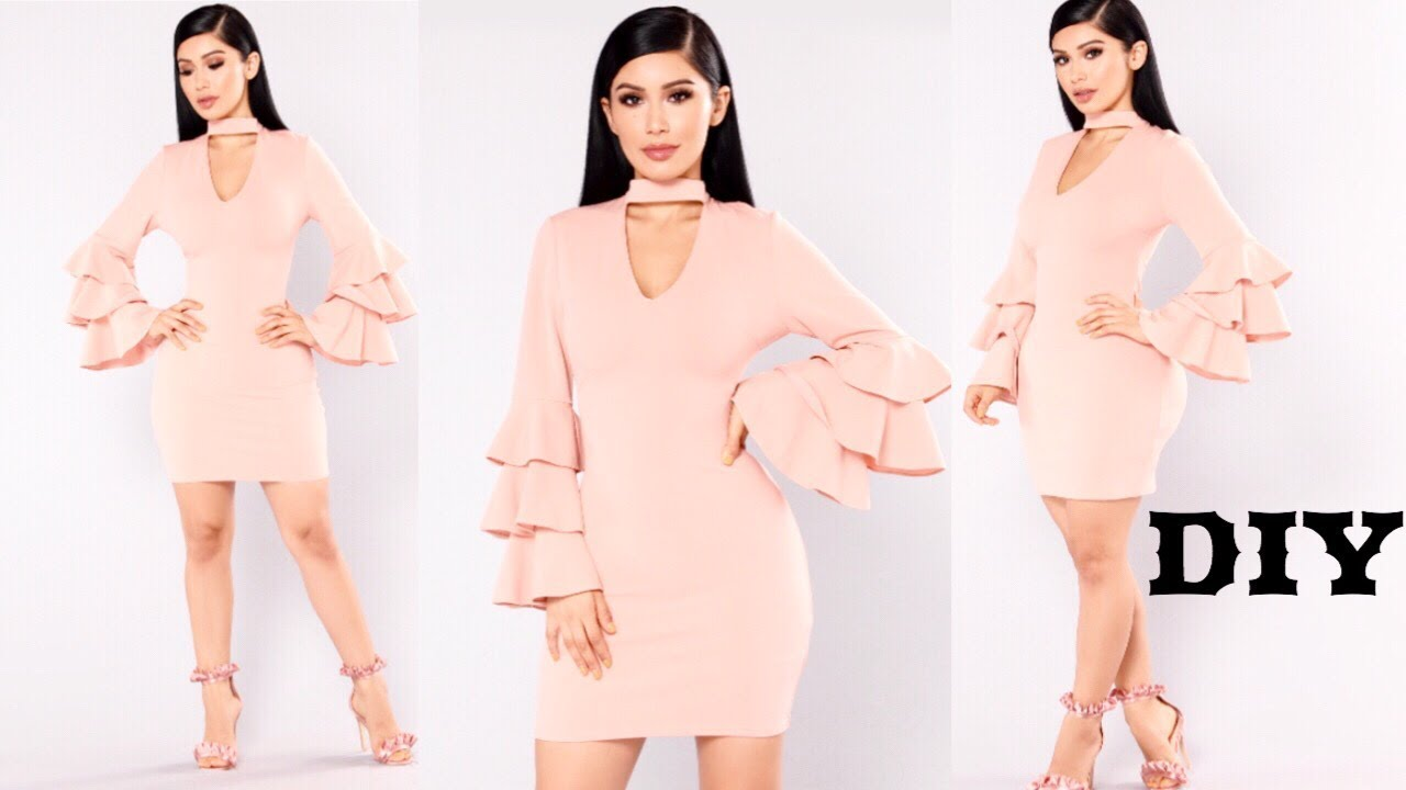 how to sew a bodycon dress with sleeves