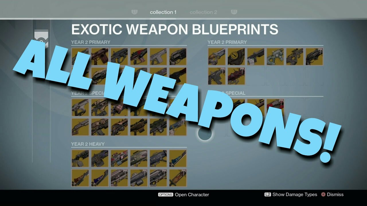 Every exotic weapon in destiny update how to youtube every exotic weapon in destiny update how to malvernweather Images