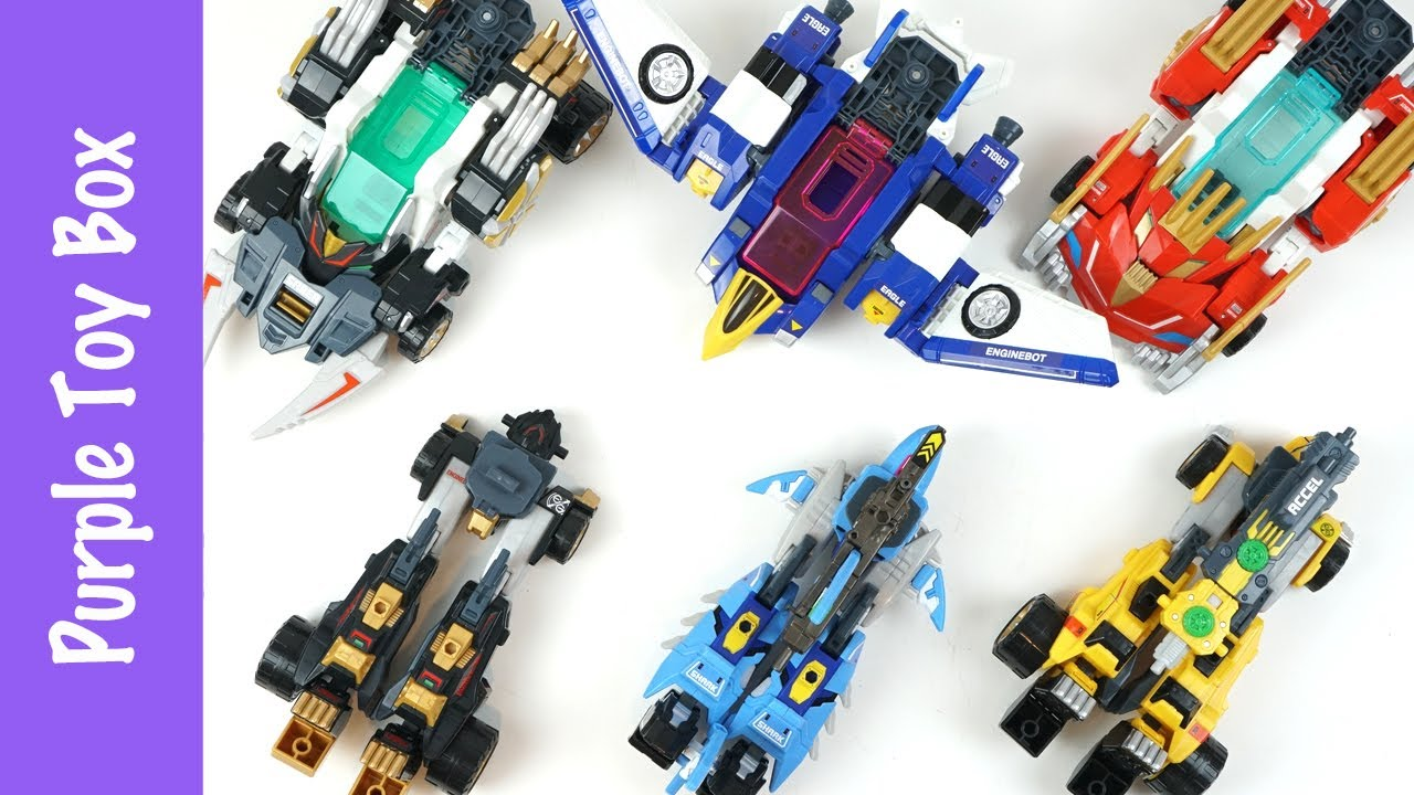 Engine Bot Eagle Shark Lion Cheetah Panther 3x Combination Transformer Tomica 이글샤크 레오치타 샤벨팬서 엔진봇