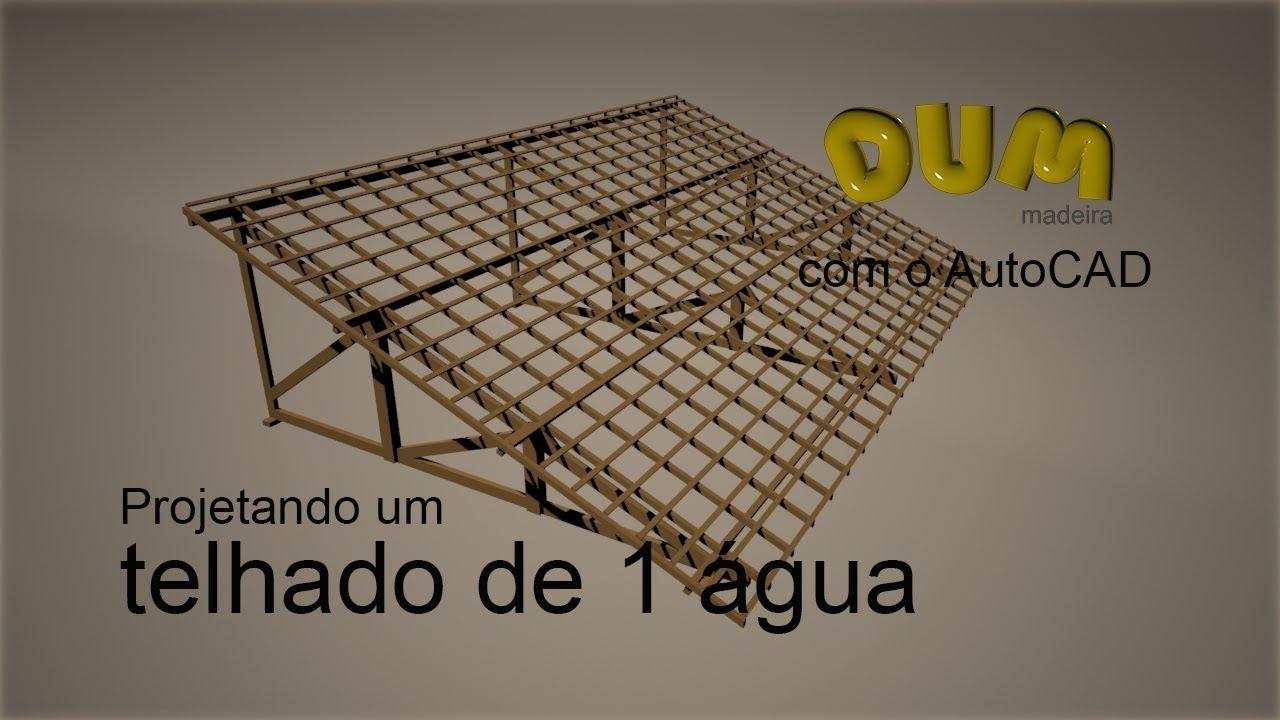 Suficiente 5 TELHADO DE 1 ÁGUA FEITO COM O APLICATIVO DUM madeira DENTRO DO  FI78
