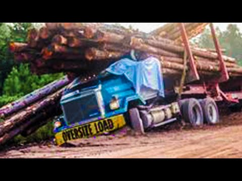 Extreme Dangerous Idiots Operate Big Wood Logging Truck Skill, Incredible Huge Timber Truck Driving