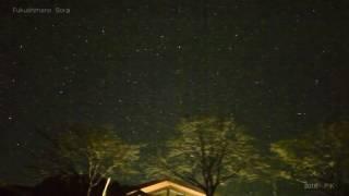 ふくしまのほしぞら 遠野オートキャンプ場 流れ星2016年12月
