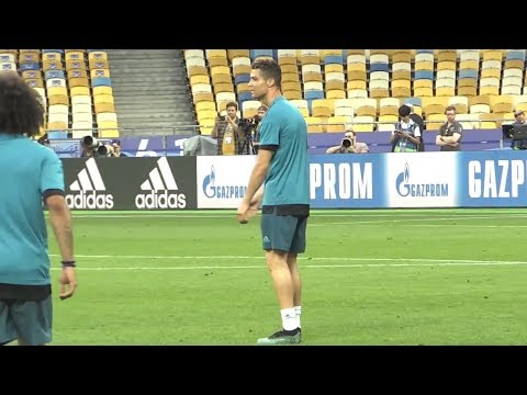 Real Madrid Train At The Olympic Stadium, Kiev Ahead Of Champions League Final v Liverpool