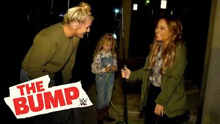 Kayla Braxton goes crabbing with Lacey Evans: WWE's The Bump