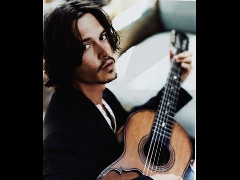 Johnny Depp With Musical Instruments
