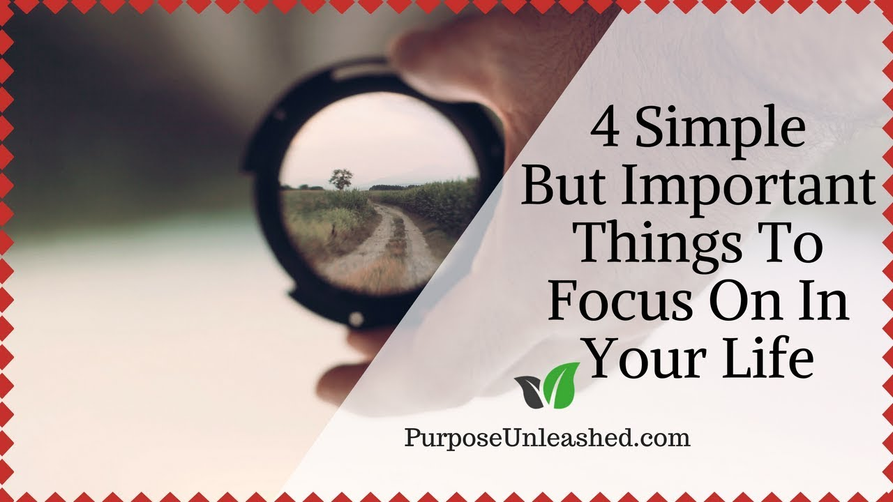 4 important things in life