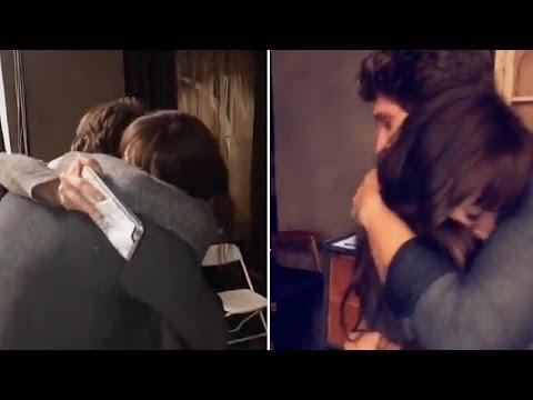 Keegan Allen & Troian Bellisario Cuddling & Crying Together  Full Video