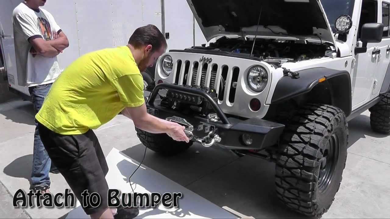 simple winch install the newerejk jeep youtube rh youtube com Electric Winch Wiring Diagram how to wire winch jeep wrangler