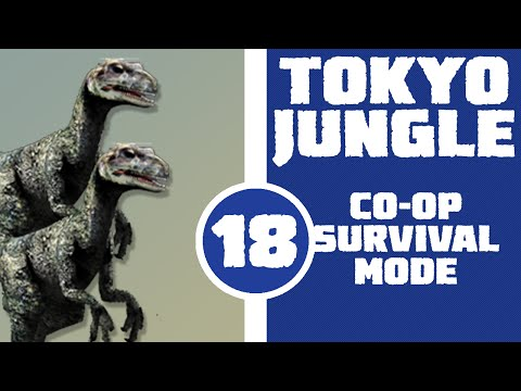 Let's Play Tokyo Jungle Co-op (Survival Mode) Part 18 - JURASSIC PARK! (Deinonychus)