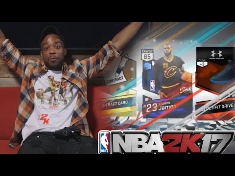NBA 2k17 MyTeam Pack Opening!I PULLED THE BEST! LEBRON JAMES!!!!!