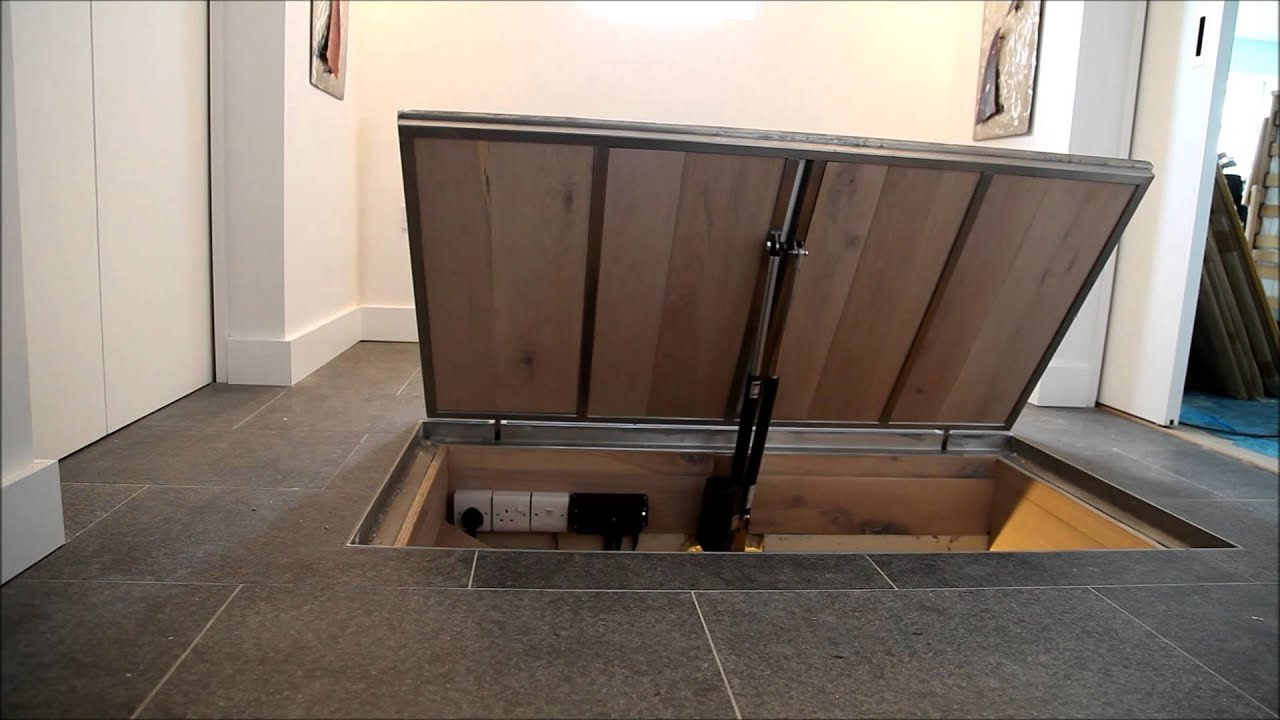 Recessed door final test remote control youtube - Cellar door hinges ...