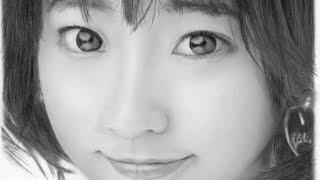 武田玲奈さん、鉛筆で描いてみました。 完成までを録画しました。 ブロ...