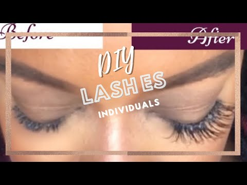 90069db8148 DIY | Individual Mink Lash Extensions - YouTube