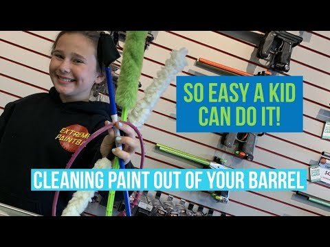 How To Clean Your Paintball Gun Barrel Correctly - So Easy A Kid Can Do It!