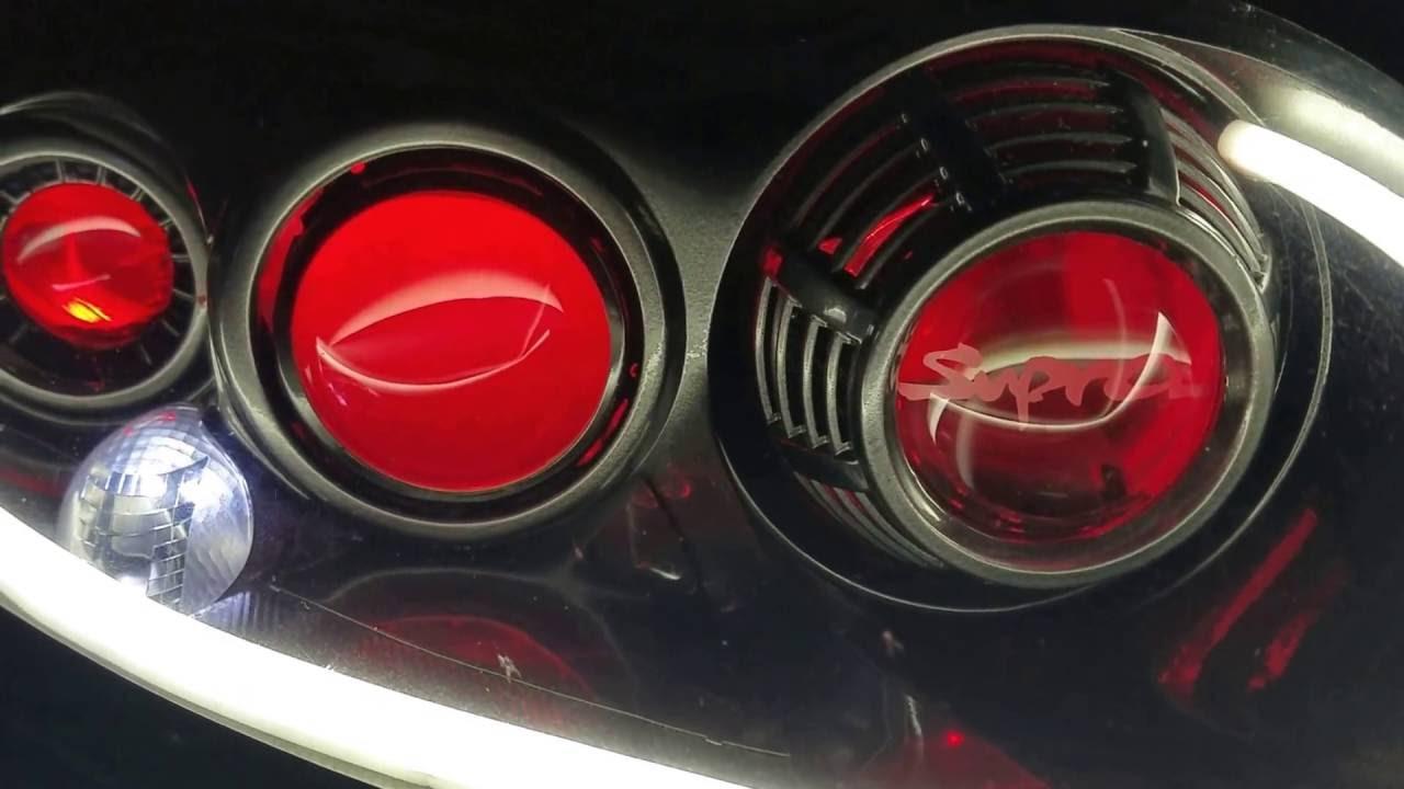 Supra headlight retrofit Houston Halos take 2 - YouTube