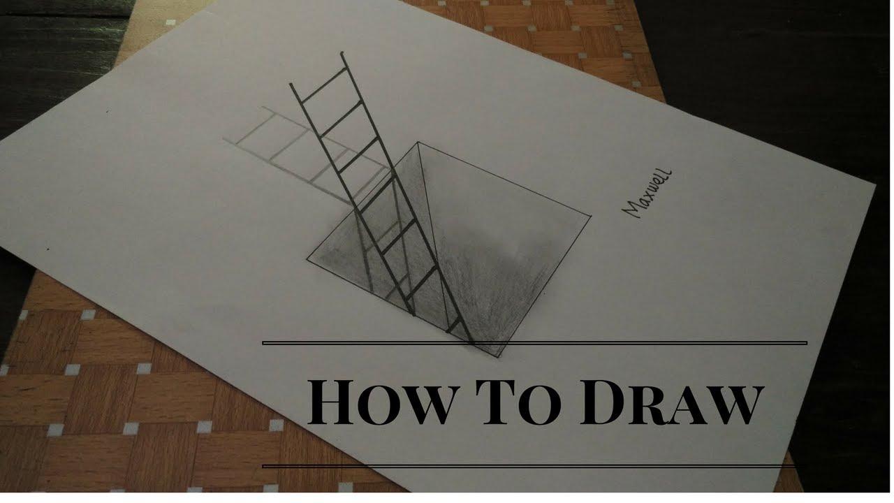 Cara Menggambar Tangga Ilusi Optik By Cicopilo