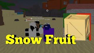 RARE CAJA Nieve Fruta-Una Pieza Legendaria-Roblox