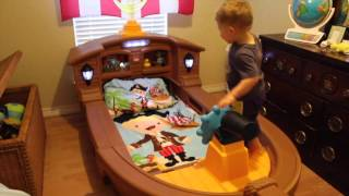 Liam's Little tikes Pirate ship bed