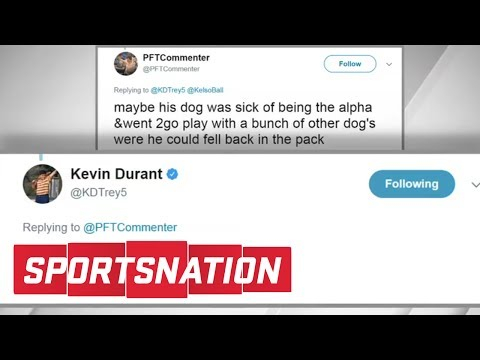 Kevin Durant Cannot Stop Responding To Trolls On Twitter | SportsNation | ESPN