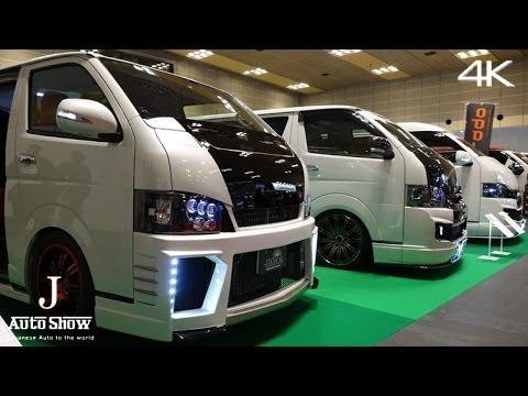 (4K)modified TOYOTA HIACE booth - Osaka Auto Messe 2016 ...