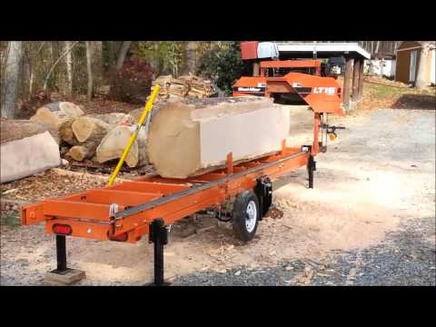 LT-15 Wood Mizer mills Monster Oak