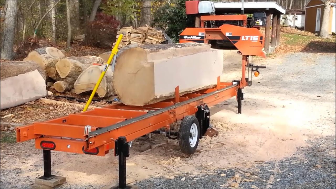 Lt 15 Wood Mizer Mills Monster Oak Youtube