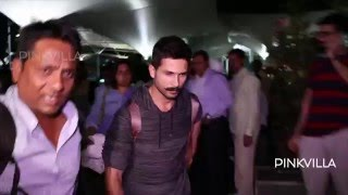 Shahid Kapoor Returns to Mumbai from Rangoon Shoot