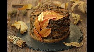 Шоколадно-Тыквенный Торт✧Шоколадные Листья✧Chocolate Pumpkin Cake Recipe✧Balkabaklı Çikolatalı Pasta