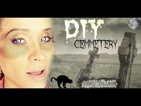 DIY Halloween Tombstones