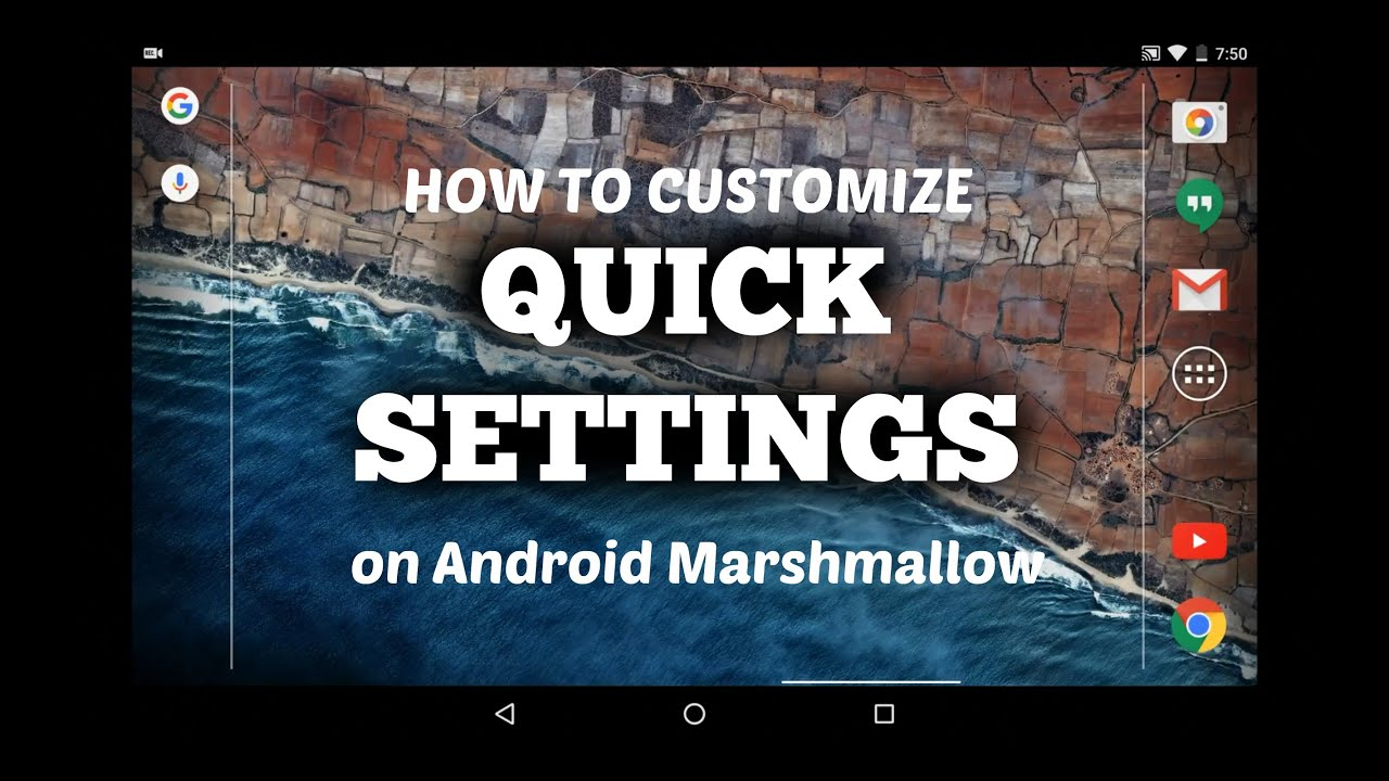 How to Customize Quick Settings on Android Marshmallow via a Hidden Menu?
