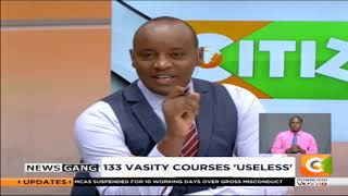 NEWS GANG | 133 'varsity courses rendered useless