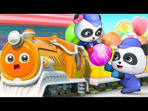 小火車來了 | 學數字兒歌童謠 | 卡通動畫 | 寶寶巴士 | Learn Chinese | BabyBus