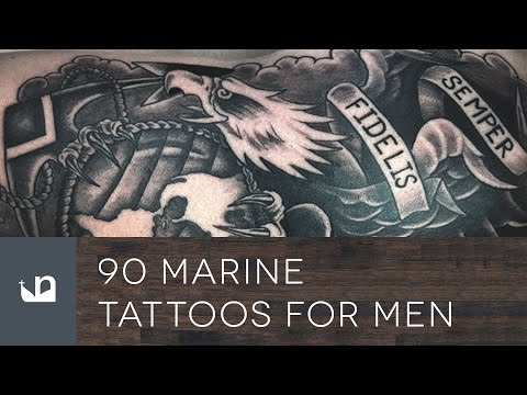 90 Marine Tattoos For Men - USMC - Semper Fidelis