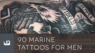 90 Marine Tattoos For Men - USMC - Semper Fidelis