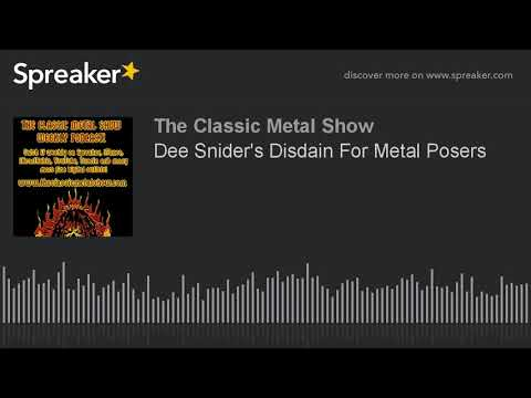 Dee Snider's Disdain For Metal Posers