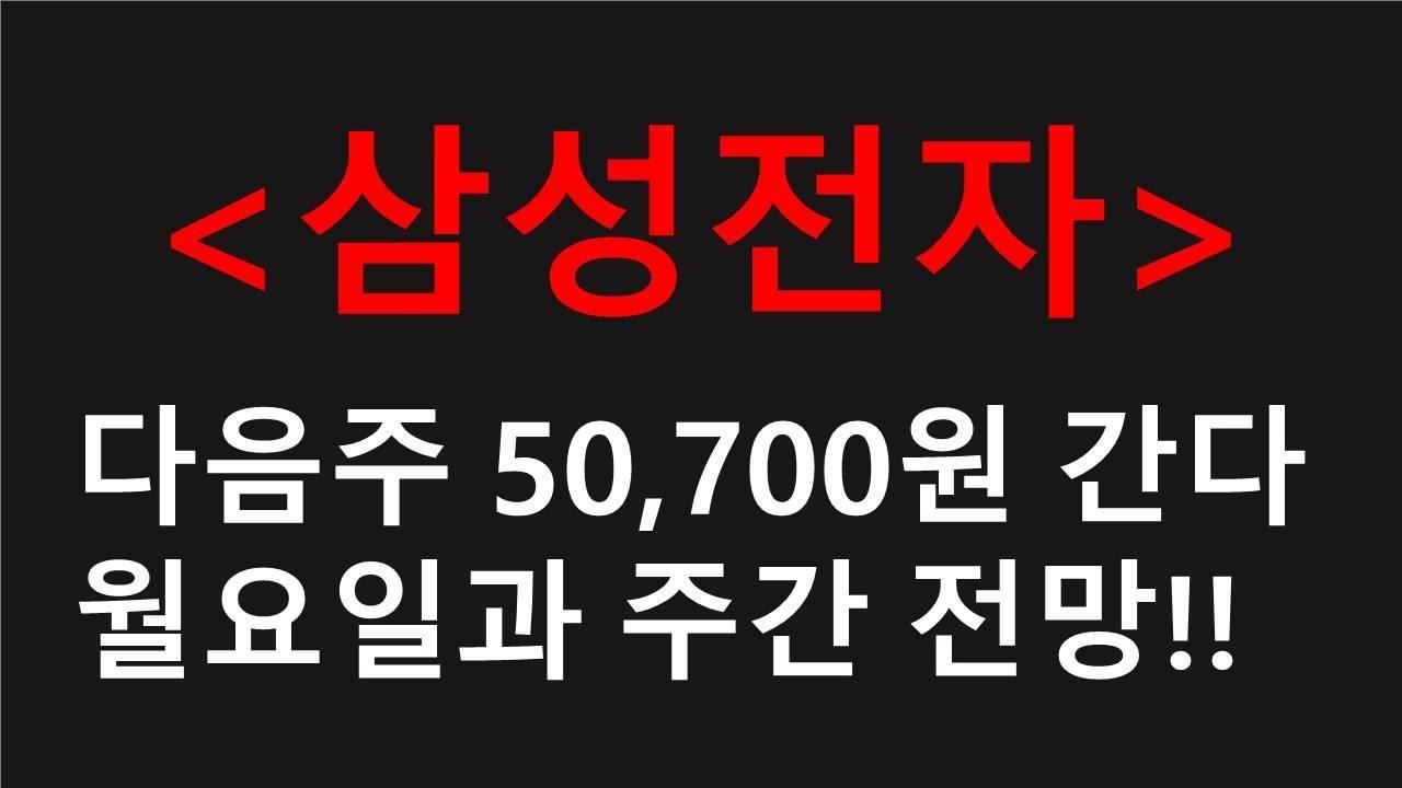 삼성전자 다음주 [단기 저점]과 주간 전망!!