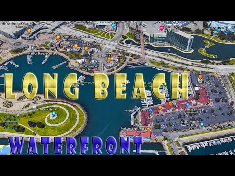 🐋LONG BEACH WATERFRONT💖SHORELINE VILLAGE SHOPPING MALL🍅PARKERS' LIGHTHOUSE