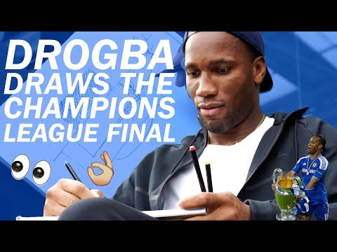 Legendary Didier Drogba Draws His Memories Of The 2012 Champions League Final!