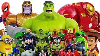 Avengers Hulk Hulkbuster Go Spider-Man Iron Man Captain America Thanos Minions