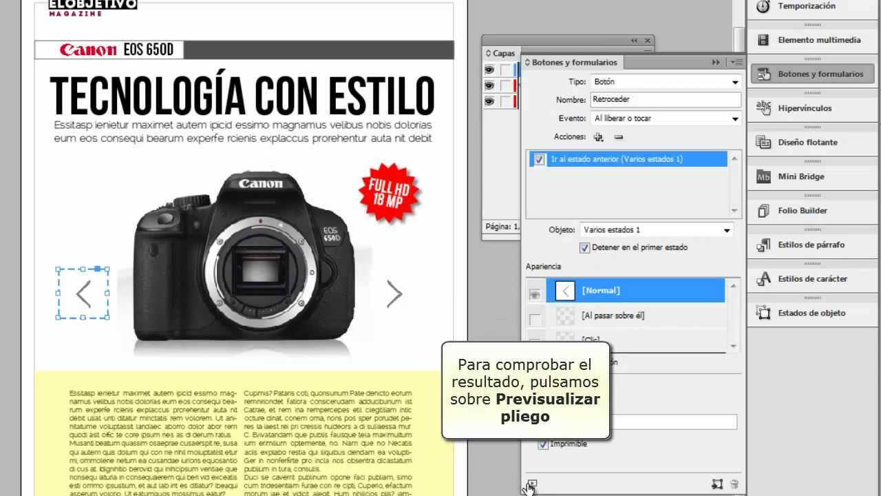Crear presentación de diapositivas en pdf interactivo con Indesign ...