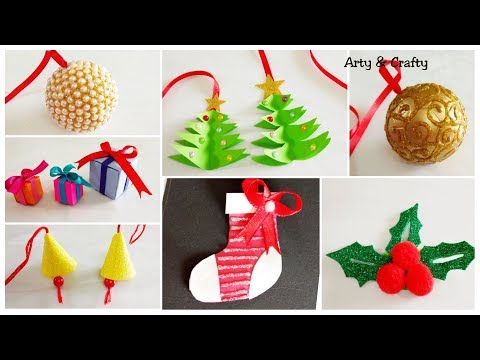 7 Easy Christmas Crafts/Cheap Christmas Ornaments/Handmade Christmas Ornaments/Xmas Decorations