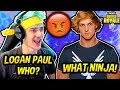 NINJA ROASTS LOGAN PAUL LIVE ON STREAM! *EXPOSED!* Fortnite SAVAGE & FUNNY Moments