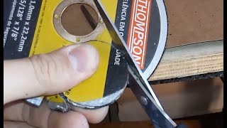 Como fazer disco de micro retífica caseiro?