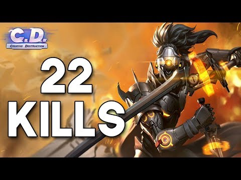 22 Kill solo win - Creative destruction