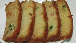 Tutti frutti eggless cake recipe in Hindi/Tutti frutti cake recipe