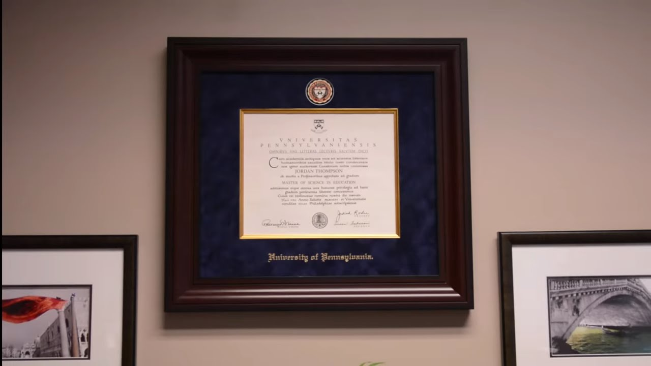 Presidential Diploma Frame | Church Hill Classics - YouTube