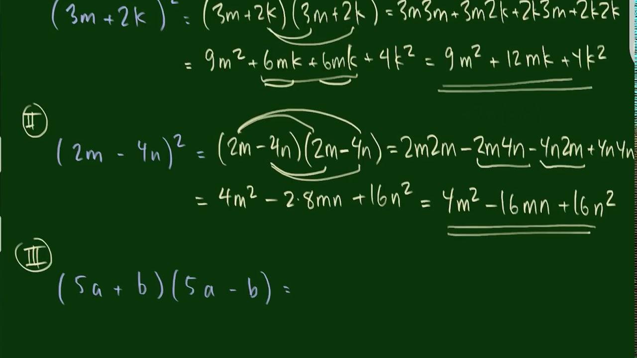 Tre eksempler på beregning med kvadratsætningerne