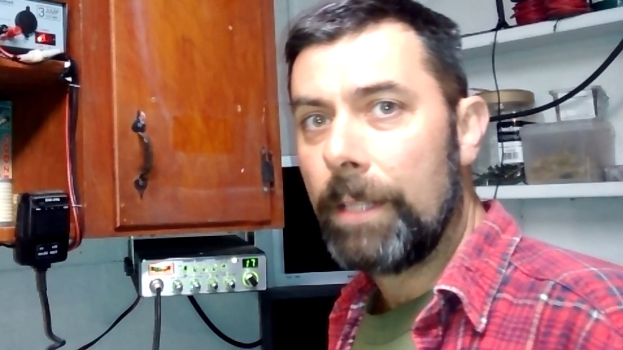 Cb Radio Review   Uniden Grant Lt  Base Setup With Antron A99 And A Power Mic