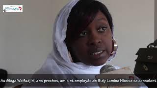 Au Siège Walfadjiri, des proches, amis et employés de Sidy Lamine Niasse se consolent