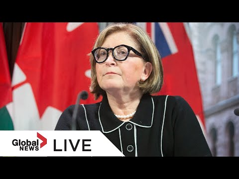 Coronavirus: Ontario's top doctor delivers COVID-19 update | LIVE